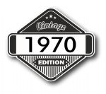 VIntage Edition 1970 Classic Retro Cafe Racer Design External Vinyl Car Motorcyle Sticker 85x70mm